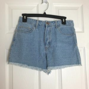 NWT Forever 21 High Waisted Jean Shorts Size 26